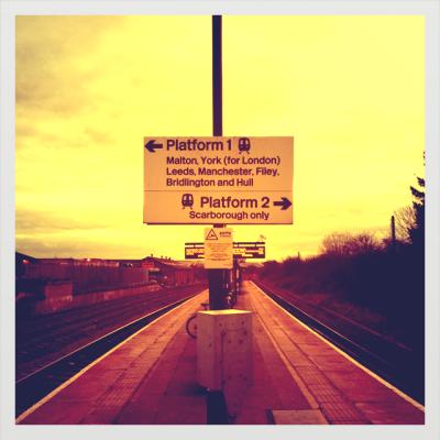 Station platform at Seamer